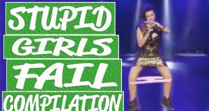 Funny girl and woman fails compilation - Woman dancing fail, girl hurts herself, running girl fails