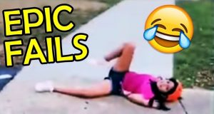 Funny and Epic FAILS! COMPILATION CHALLENGE!  Don't Laugh! 滑稽和史诗失败! 编译挑战!  别笑!