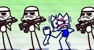 Max Stormpooper Runs for Restroom - Pencilmation Funny Moment Cartoons