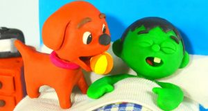 FUNNY KIDS HAVE A PLAYFUL DOG ❤ Play Doh Cartoons For Kids