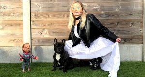 Funny Dog VS Tiffany Bride of Chucky Prank: Flor The Frenchie